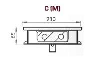 Чертеж конвектора Carrera M230