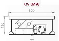 Чертеж конвектора Carrera SV/CV