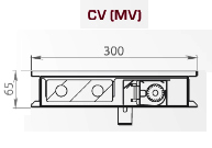 Чертеж конвектора Carrera MV230