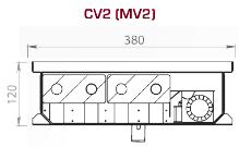 Чертеж конвектора Carrera SV2/CV2