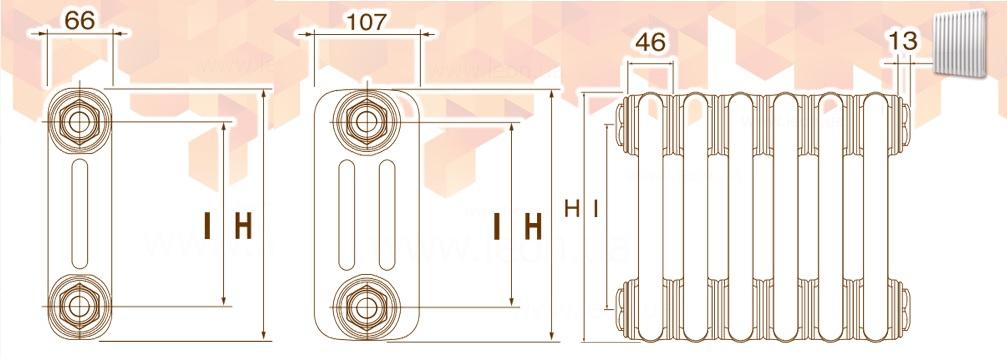 Трубность (глубина) радиаторов Делонги