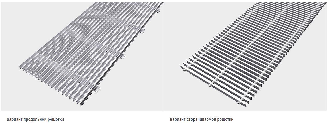 Сравнение продольной и поперечной решетки Керми