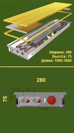 Конвектор КПТ 280