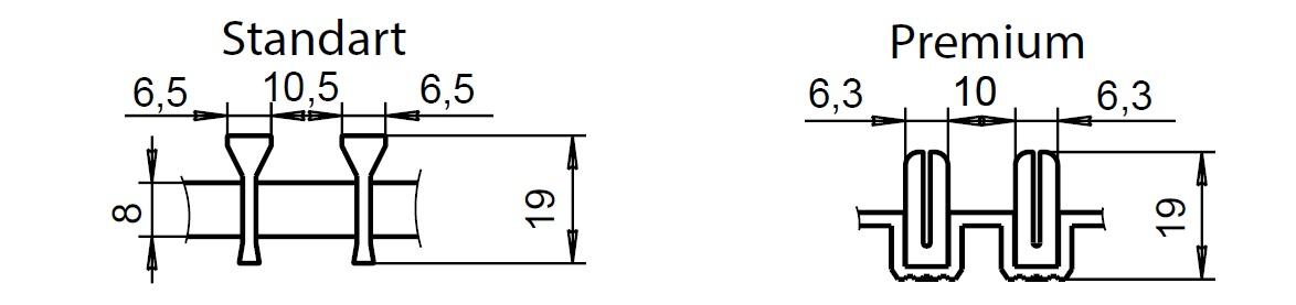 Высота алюминиевой решетки Polvax