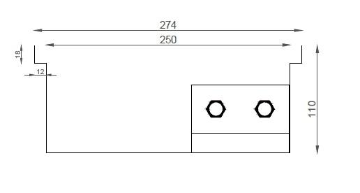 Verano VK15 (Ширина 280 мм. Глубина 110 мм)
