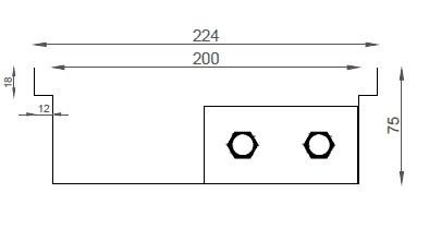 Verano VK15 (Ширина 230 мм. Глубина 75 мм)