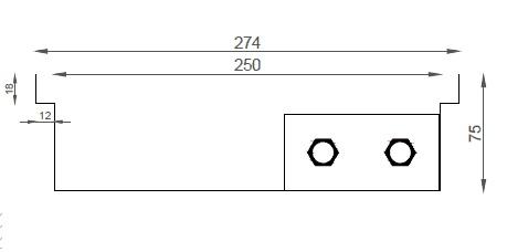 Verano VK15 (Ширина 280 мм. Глубина 75 мм)