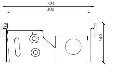 Verano VKN5 (Ширина 330. Глубина 140)