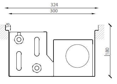 Verano VKN5 (Ширина 330. Глубина 180)