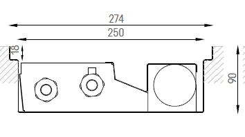 Verano VKN5 (Ширина 280. Глубина 90)
