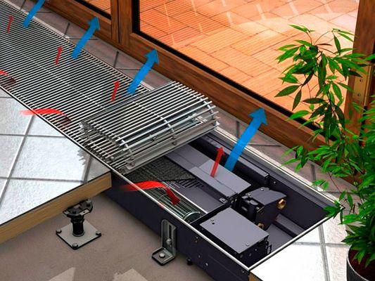 Внутрипольный конвектор кондиционер на охлаждение